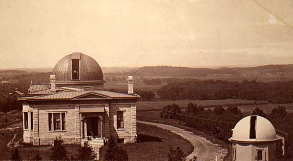 Historic Washburn Observatory (constructed in 1878), home of the L&S Honors Program; photograph of Washburn Observatory, ca. 1880